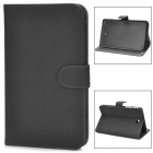 Protective Flip-open Smart PU Leather Case w/ Holder for Samsung Galaxy Tab 3 P3200 - Deep Gray