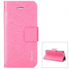 NEWTOP Elegant Protective PU Leather Case for Iphone 5 - Deep Pink