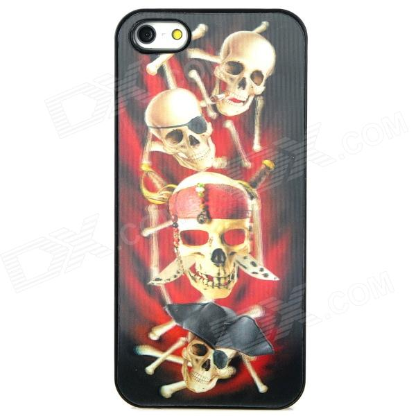 3D Pirate Skulls Style Protective Back Case for Iphone 5 - Red + White + Black рюкзак case logic 17 3 prevailer black prev217blk mid