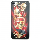 3D Pirate Skulls Style Protective Back Case for Iphone 5 - Red + White + Black