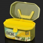 H2XD 6005 Plastic Two-Layer Handheld Gadgets Organizer Container Storage Box - Yellow