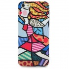Cute Girl Style Relief Graffiti Frosted Protective Plastic Back Case for iPhone 5 - Multicolor