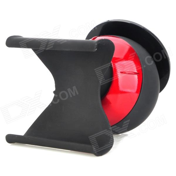 Creative Ball Style 360 Degree Rotatable Car Mount Stand Holder for Iphone 4 / 4S / 5 - Black + Red 360 degree rotatable motorcycle mount holder w waterproof bag for iphone 4 4s black
