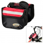 Headway G706 Bicycle Tube Bag w/ Rain Cover - Red + Black