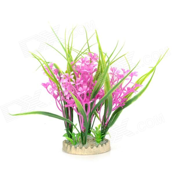 Decorative Artificial Water Plants for Aquarium / Fish Tank - Green + White + Purple