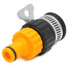 Universal External Faucet Adapter w/ Washing Machine Adapter - Yellow + Black + Silver