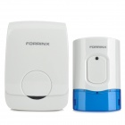 Forrinx D Waterproof Wireless Digital Doorbell Set - White + Blue