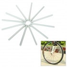 Bike Wheel Spoke ABS Safety Reflective Tube Reflector - Grey (12PCS)