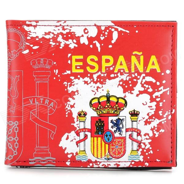 Spanish Style Folding PU Wallet - Red