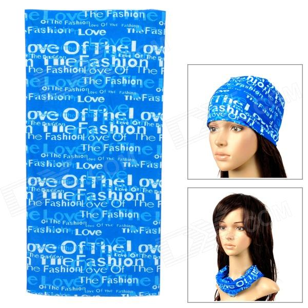 Multifunction Outdoor Sports Seamless Head Scarf - Blue