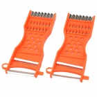 DS-01-2 Multifunction Anti-Slip Vegetable Fruit Peeler Slicer Kitchen Tool - Orange Red (2 PCS)