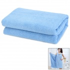 Multifunction Soft Bamboo Fiber Bath Towel Household Clothes - Light Blue