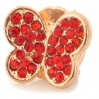 Butterfly Style Decorative Aluminum Alloy Adhesive Stick for Iphone Home Button - Red + Golden