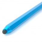 Pencil Style Aluminum Alloy Dual Heads Capacitive Touch Screen Stylus - Blue