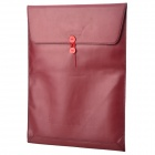 "Stylish Protective PU Inner Bag for MacBook Pro 15.4"" - Purple Red"