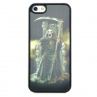 3D Skeleton with Scythe Style Protective Back Case for Iphone 5 - Silver + White + Black