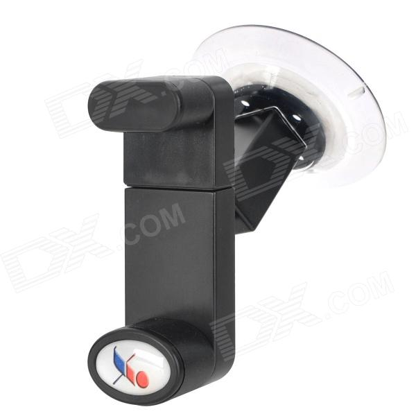 JX1-017 360 Degree Rotational Desktop / Car Mount Holder for Cell Phone / GPS - Black 360 degree rotatable suction cup mount holder for iphone ipad ipod samsung gps mid more