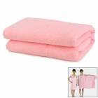 Multifunction Soft Bamboo Fiber Bath Towel Household Clothes - Pink