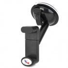 Multifunction 360 Degrees Car Suction Cup Mount Holder for GPS / Mobile Phones - Black