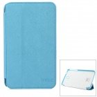 BELK Cross Pattern Protective PU Leather + Micro Fiber Case for Samsung P3200 - Blue