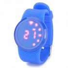 Fashion Silicone Quartz Digital Wrist Watch w/ LED for Kids - Deep Blue (1 x 2016)