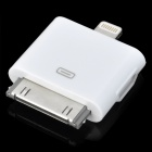 Female Micro USB to Male Apple 30 Pin / 8 Pin Lightning Charging & Data Transfer Adapter - White