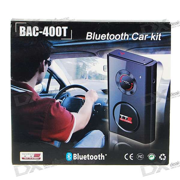 HWD-400 Bluetooth Handsfree Car Kit with Voice Caller-ID (Built-in Speaker + Removable BT Headset)
