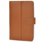 "Stylish Universal PU Leather Case w/ Holder for 7"" Tablet PCs - Brown"