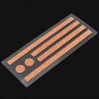 Protective Electroplating Matte Edge Adhesive Sticker Set for Iphone 5 - Light Golden
