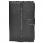 "Stylish Universal PU Leather Case w/ Holder for 7"" Tablet PCs - Black"