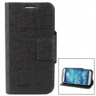 Protective PU Leather + Soft Plastic Case for Samsung Galaxy S4 i9500 - Black