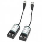 Passive Single Channel Twisted Pair Video Balun Transceiver - Black + Silver (2 PCS)