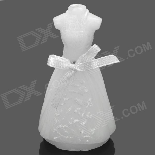 Creative Romantic Wedding Dress Style Candle - White
