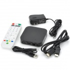 Mini Quad Core Android 4.2.2 Mini PC w / ROM 8GB / 1GB RAM / kaukosäädin - musta (US Plug)