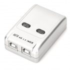 USB 2.0 Automatic Printer Teilen Switch - Silber Grau