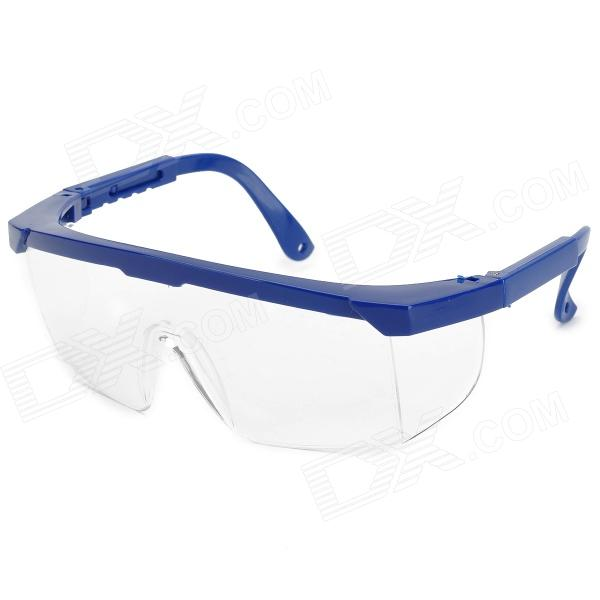 YJ0021 PC Eye Safety Protection Eyeglasses - Blue + Transparent