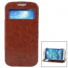 SHS Protective PU Leather Case for Samsung Galaxy S4 i9500 - Brown
