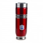 XINFA 0039 Dual Layer Thermal Insulation Magnetic Vacuum Cup - Red + Silver (350ml)