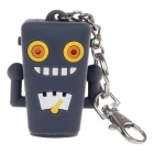 Cartoon Style Emulsion / Liquid Container Bottle Case w/ LED Light / Keychain - Grey (1 x CR1632)