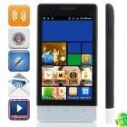 "H3039 Android 4.1.1 GSM Bar Phone w/ 4.0"" Capacitive Screen, Quad-Band, FM and Wi-Fi - Black + White"