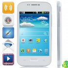 "Mini i9500 Android 4.2.2 GSM Bar Phone w/ 4.0"" Capacitive Screen, Quad-Band and Wi-Fi - White"