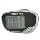 "AOEOM AP-J9795 1.5"" LCD Sport Pedometer Step Counter w/ Clip - Black + Silver (1 x LR1130)"