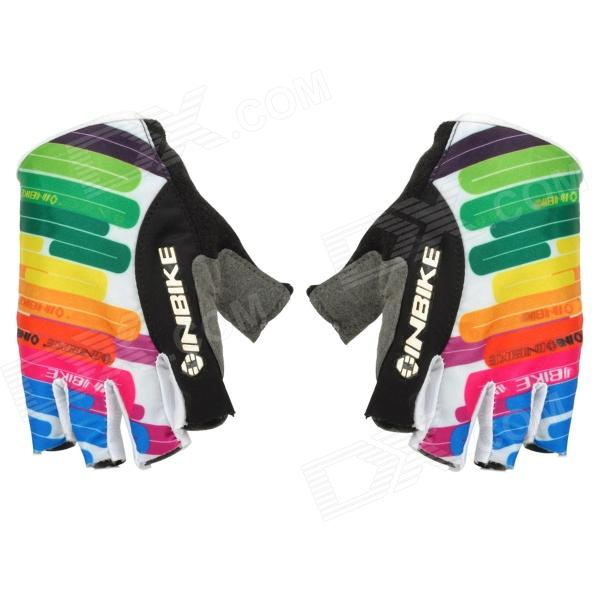 INBIKE HH-88 Stylish Half-Finger Riding Gloves - Multicolor (L / Pair) телефон samsung sm a730 galaxy a8 2018 32gb черный