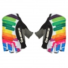 INBIKE HH-88 Stylish Half-Finger Riding Gloves - Multicolor (L / Pair)