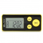 "ELAH SM019 Multifunktions 1.5 ""LCD 3D Digital Pocket Pedometer Sport - Gelb + Schwarz (1 x CR2032)"