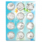 Shining Nail Art Decorative Foil Cases - Silver (12 PCS)