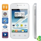 "Mini 7100 Android 4.0 GSM Bar Phone w/ 3.5"" Capacitive Screen, Wi-Fi and Quad-Band - Blue + White"