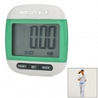 "AOEOM AP-J9667 1.5"" LCD Clip On Sports Pedometer Step, Calorie, Distance Counter - Green (1 x L1131)"