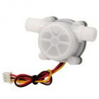 HS09 PVC Water Flow Hall Sensor Flowmeter / Counter - White