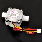 YF-S402 PVC Water Flow Hall Sensor Flowmeter / Counter - White